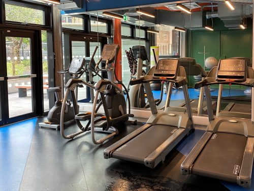 gym in beton house
