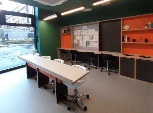 quiet study area in beton house