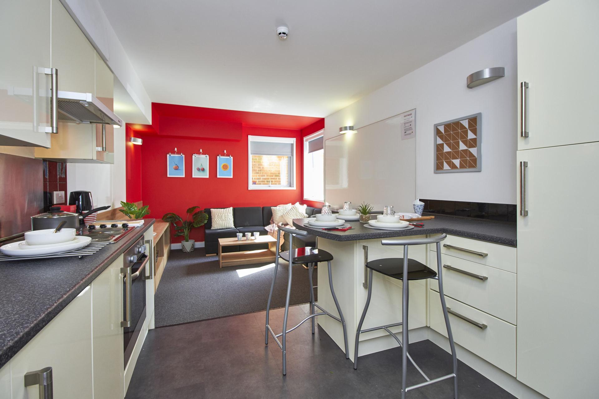 communal kitchen in slade park oxford