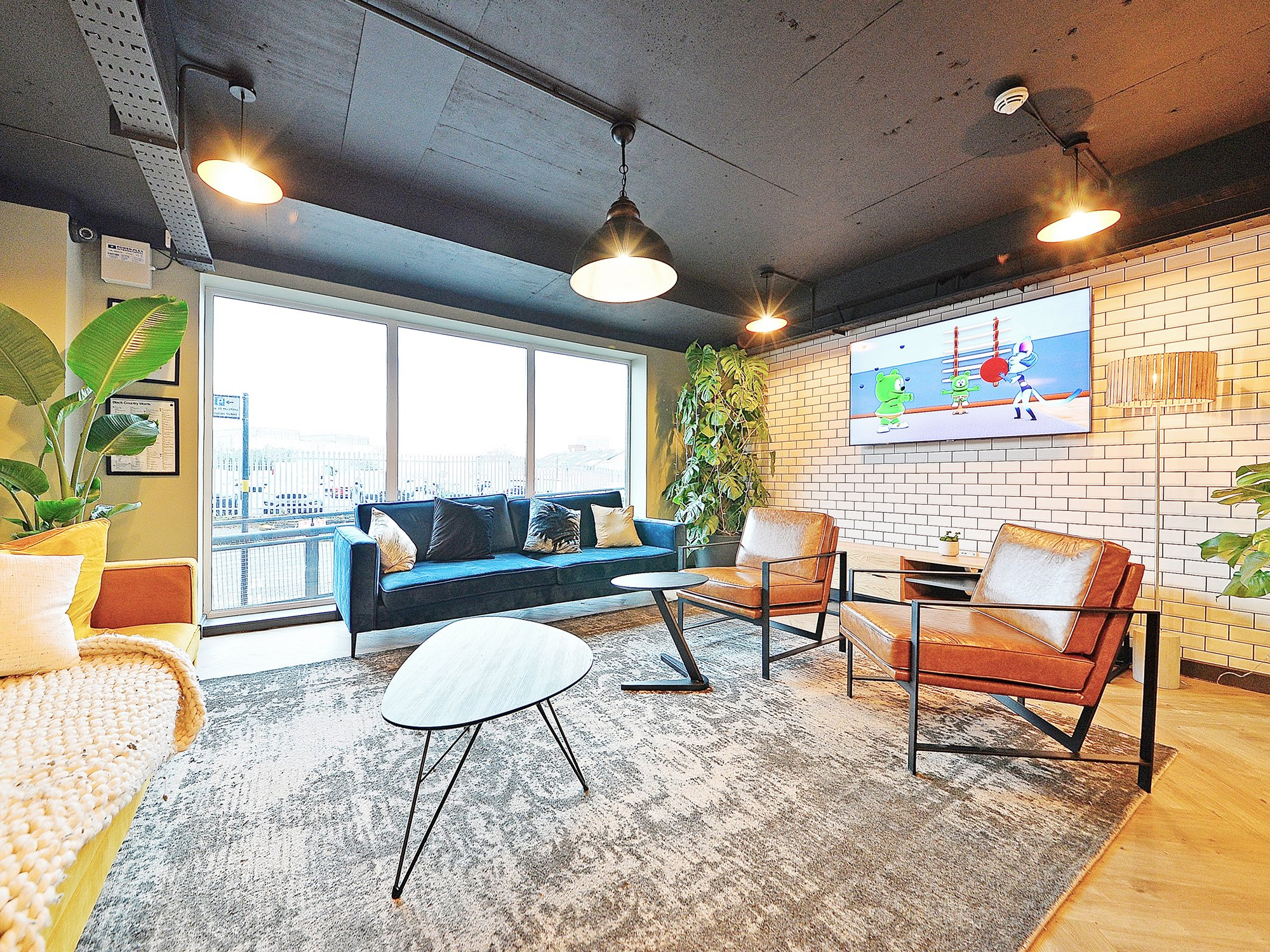 Communal area at canalside student accommodation birmingham