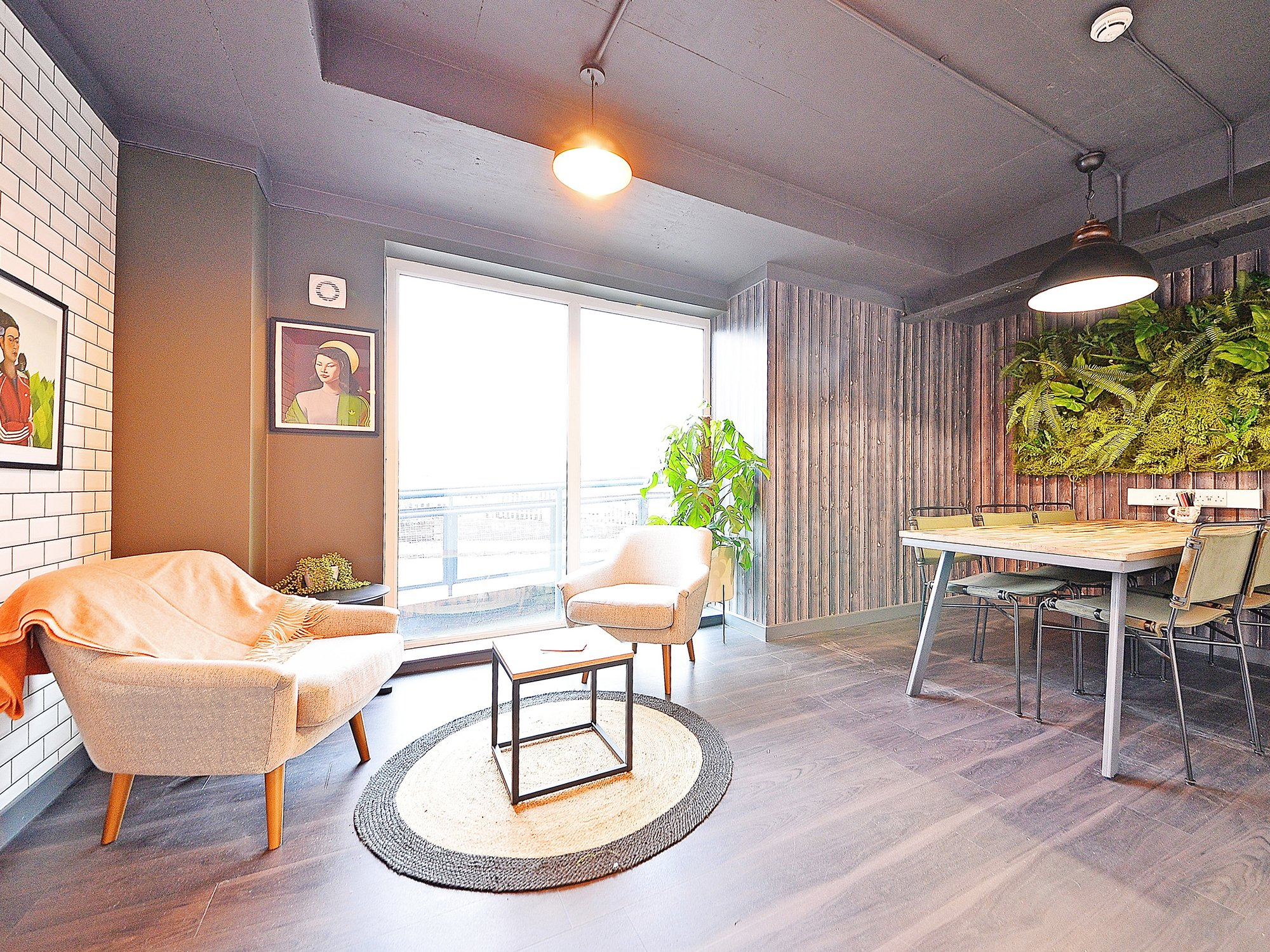 living space at canalside student accommodation