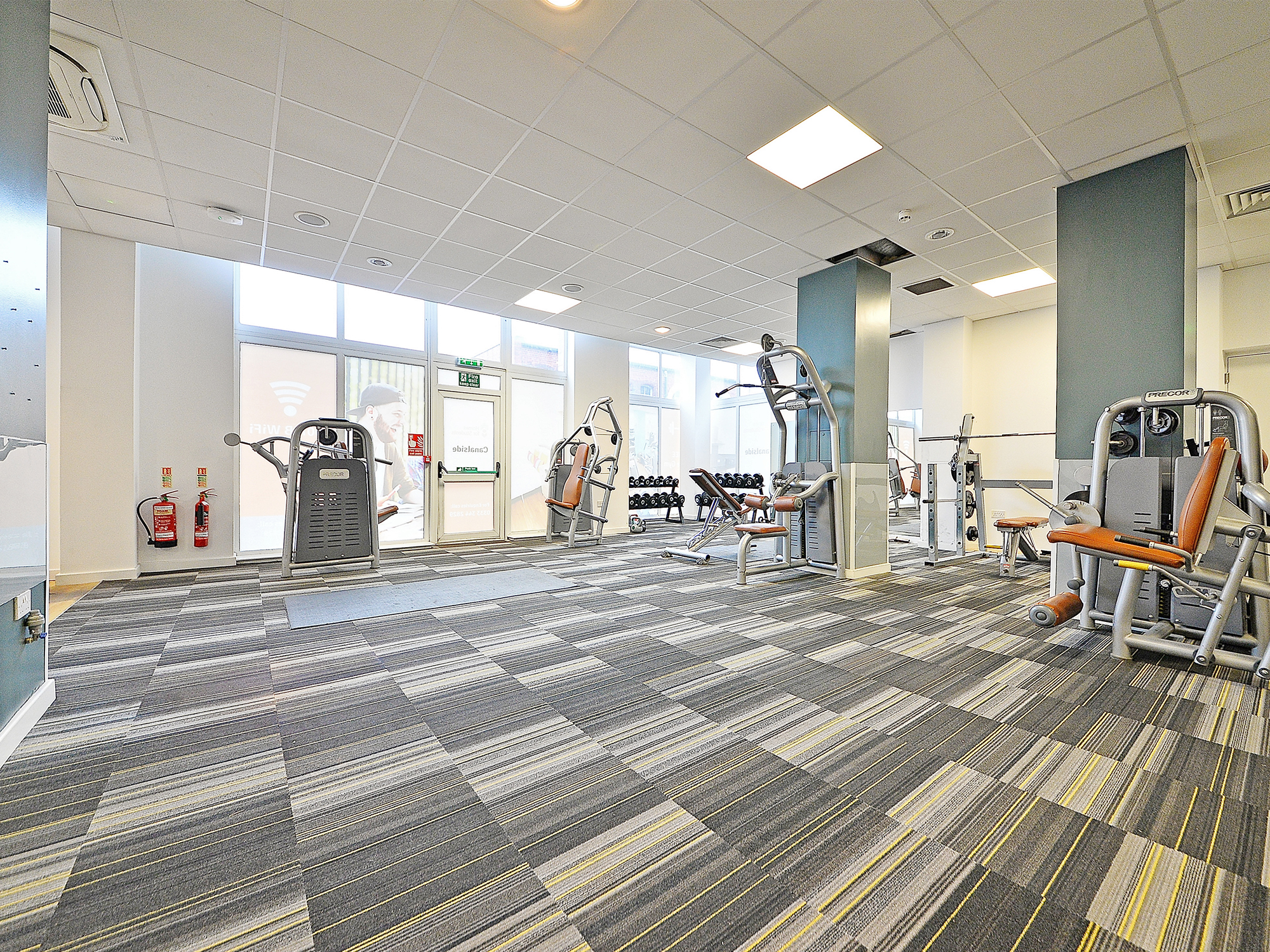 gym at canalside student accommodation in birmingham