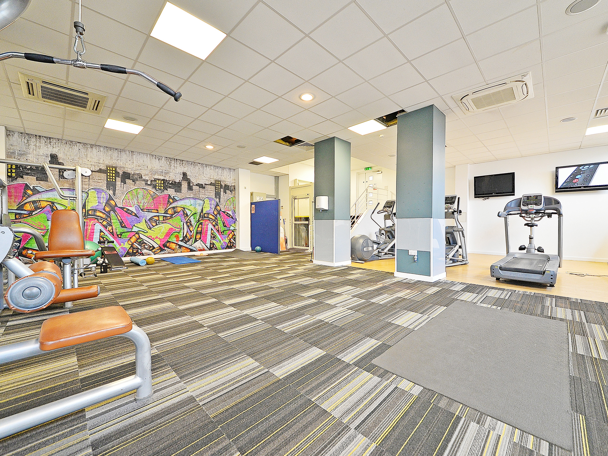 fitness at canalside student accommodation in birmingham