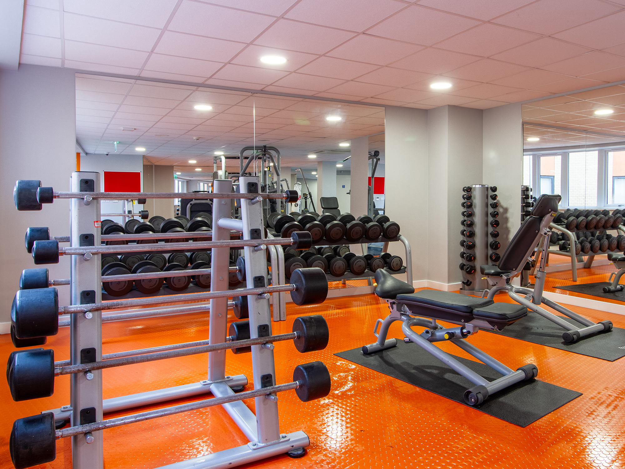 gym at the maltings student accommodation