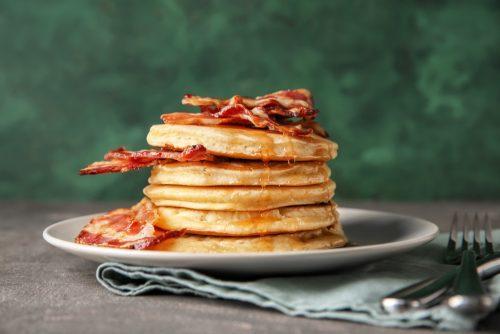 maple syrup & bacon scotch pancake