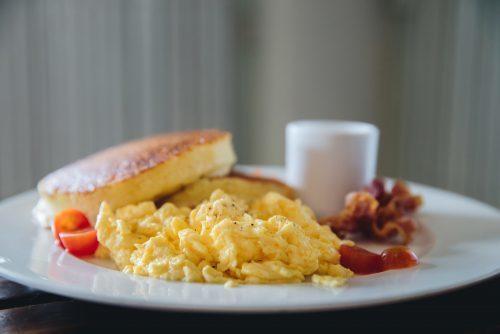 scrambled egg scotch pancake