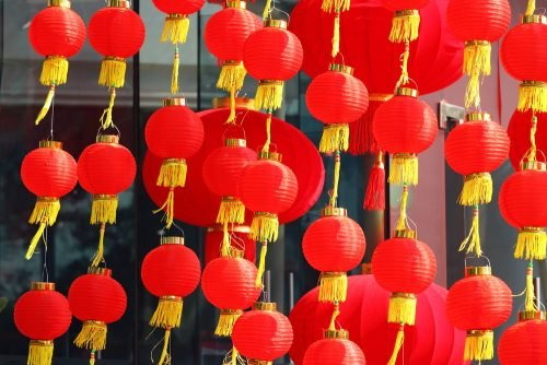 Celebrate the lantern festival for Chinese New Year