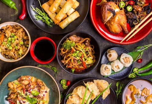 cook a feast for Chinese new year