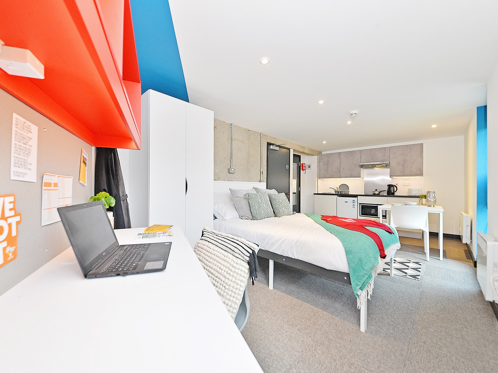 bedroom space Beton House Sheffield Student Accommodation