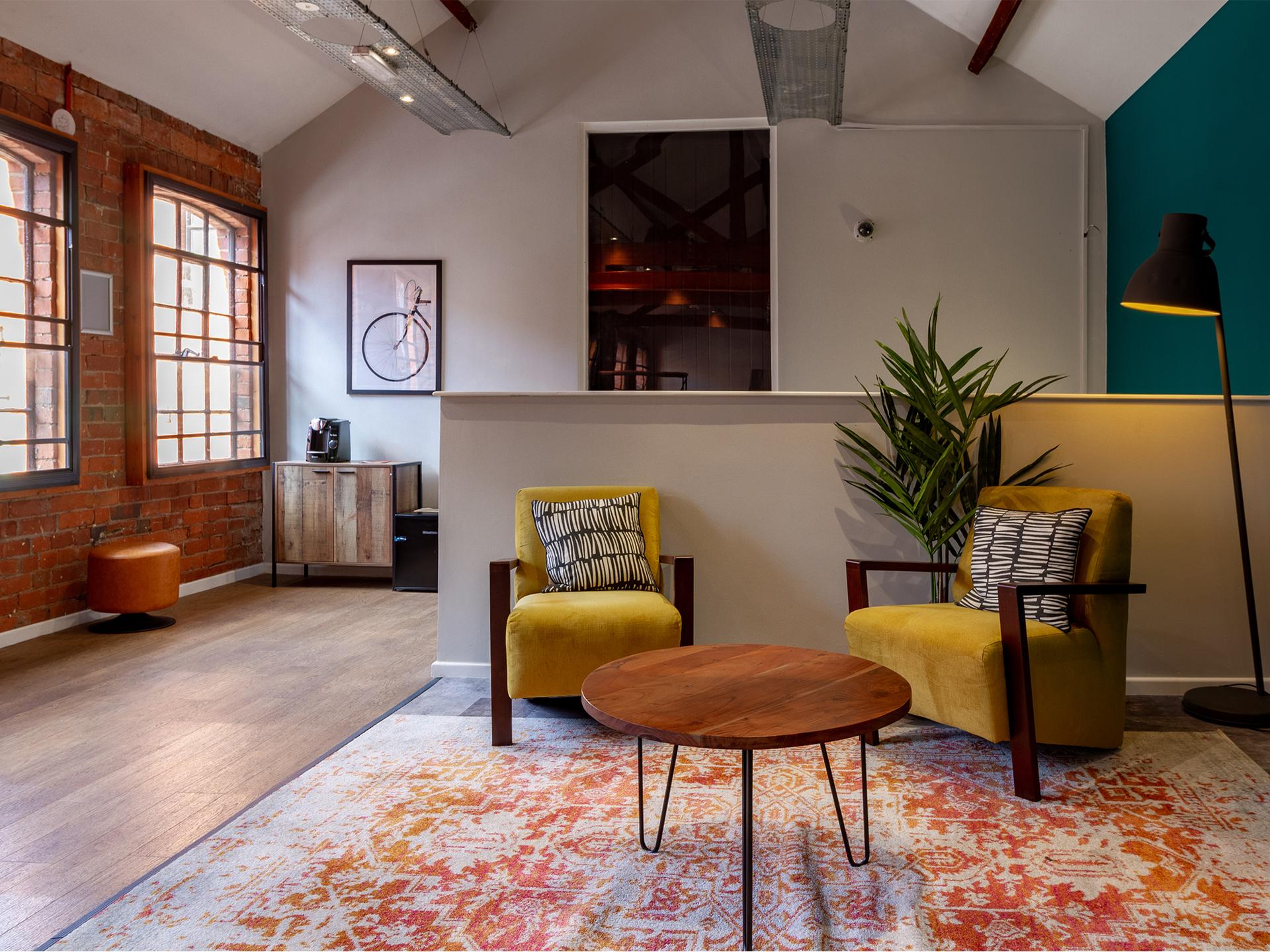 sitting area Calcott Ten Coventry Student Accommodation