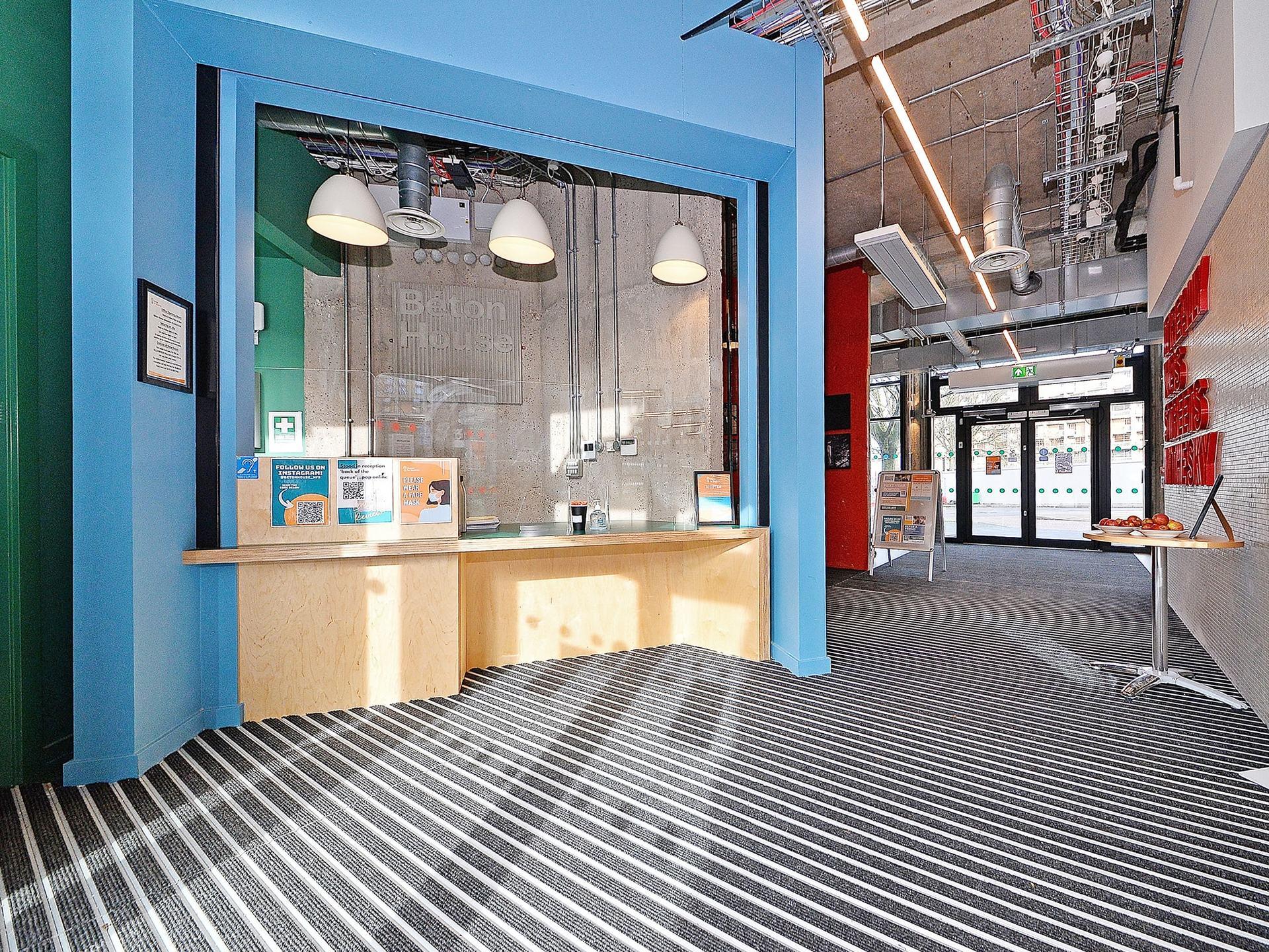 reception area Beton House Sheffield Student Accommodation