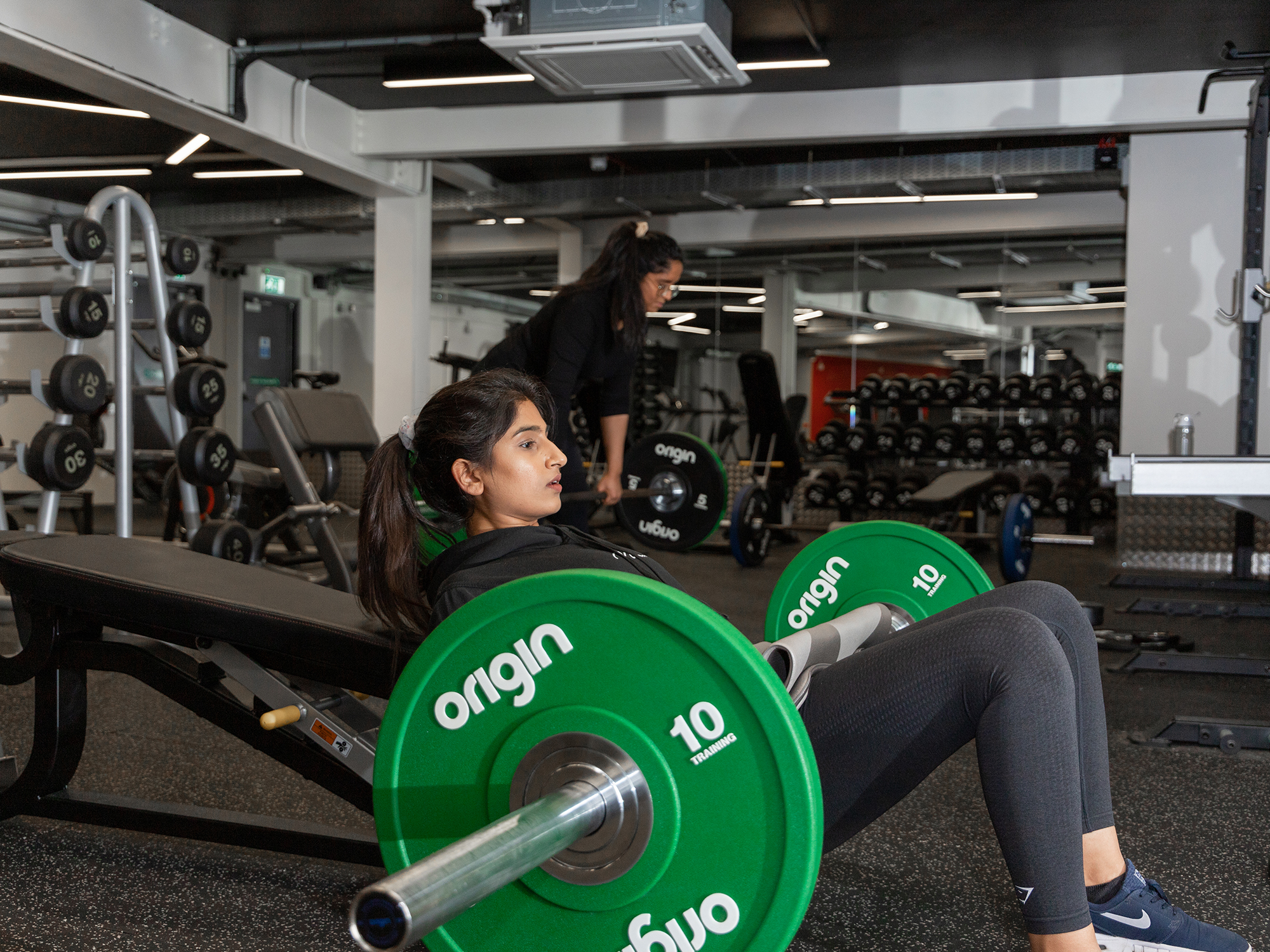 powis place gym with students