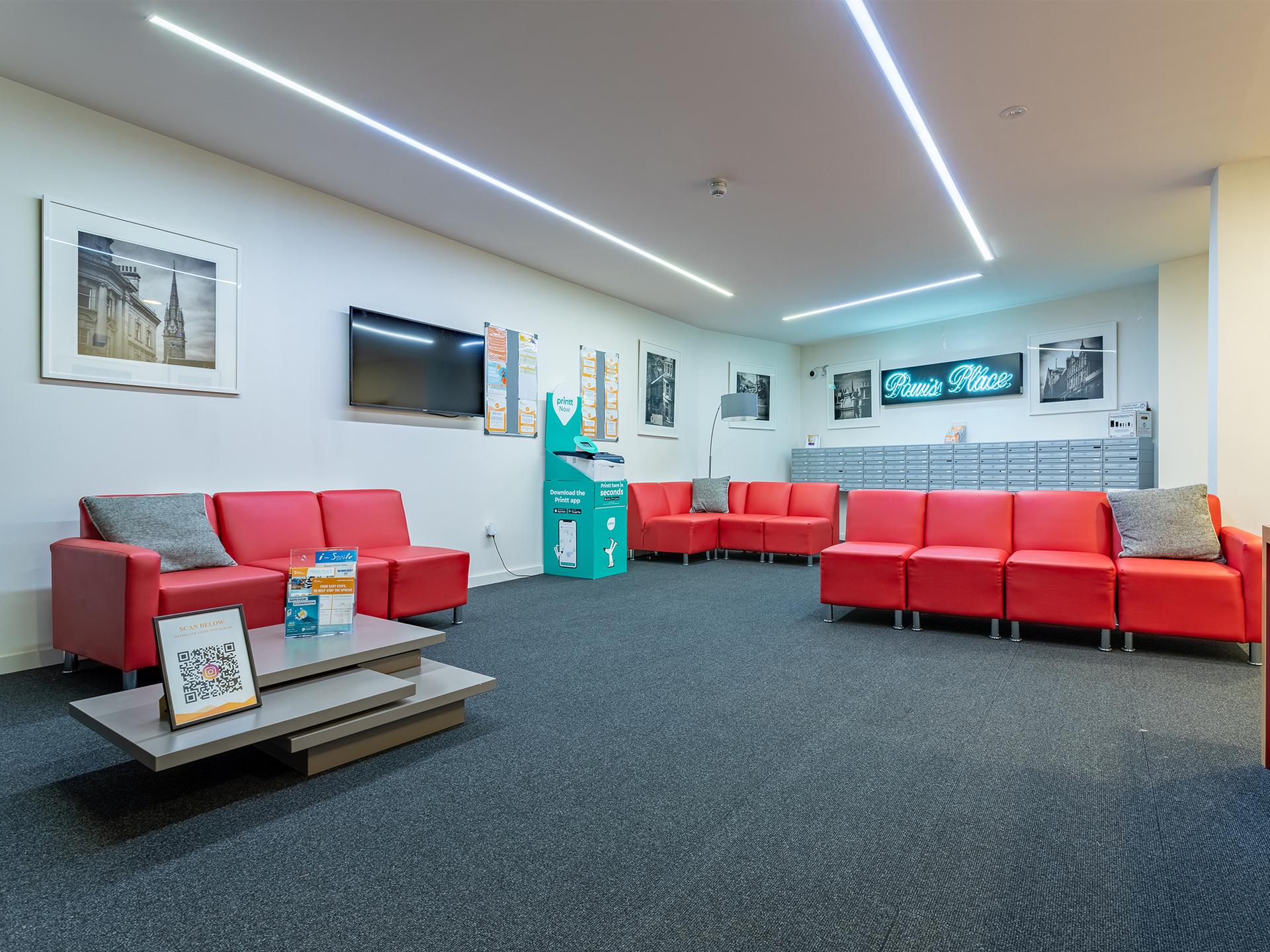 Reception area of Powis Place