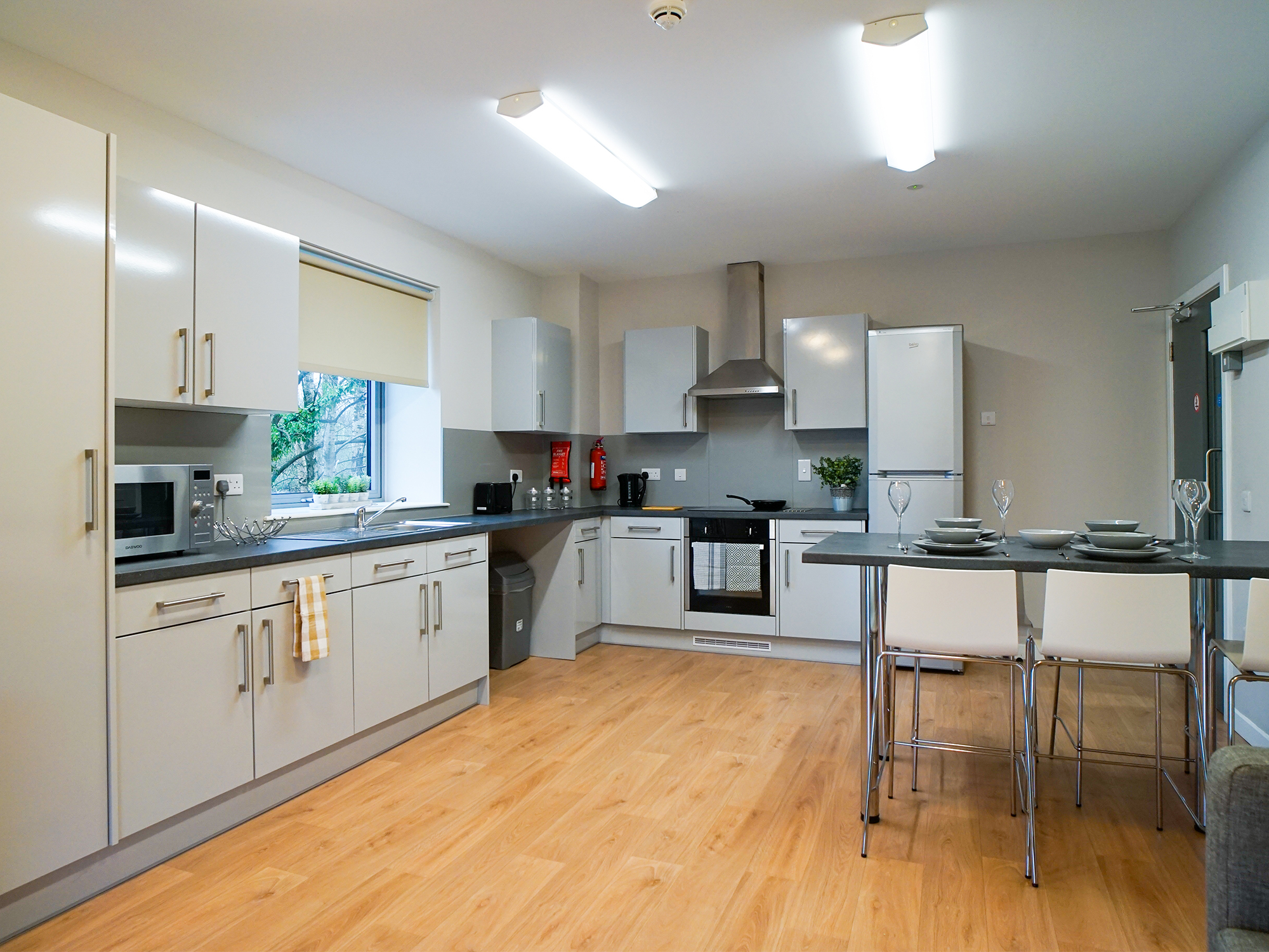 cooking area centro house student accommodation Stirling