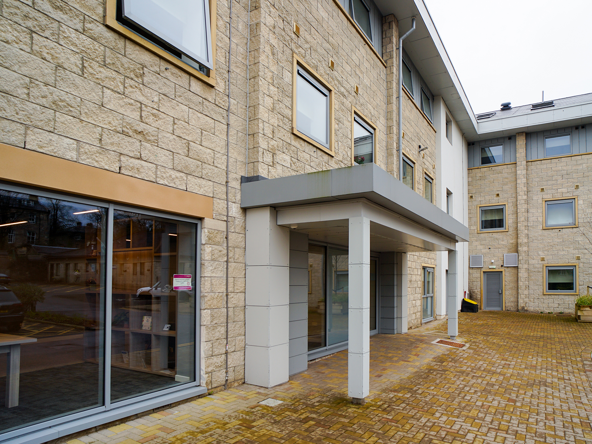 entrance of centro house student accommodation Stirling
