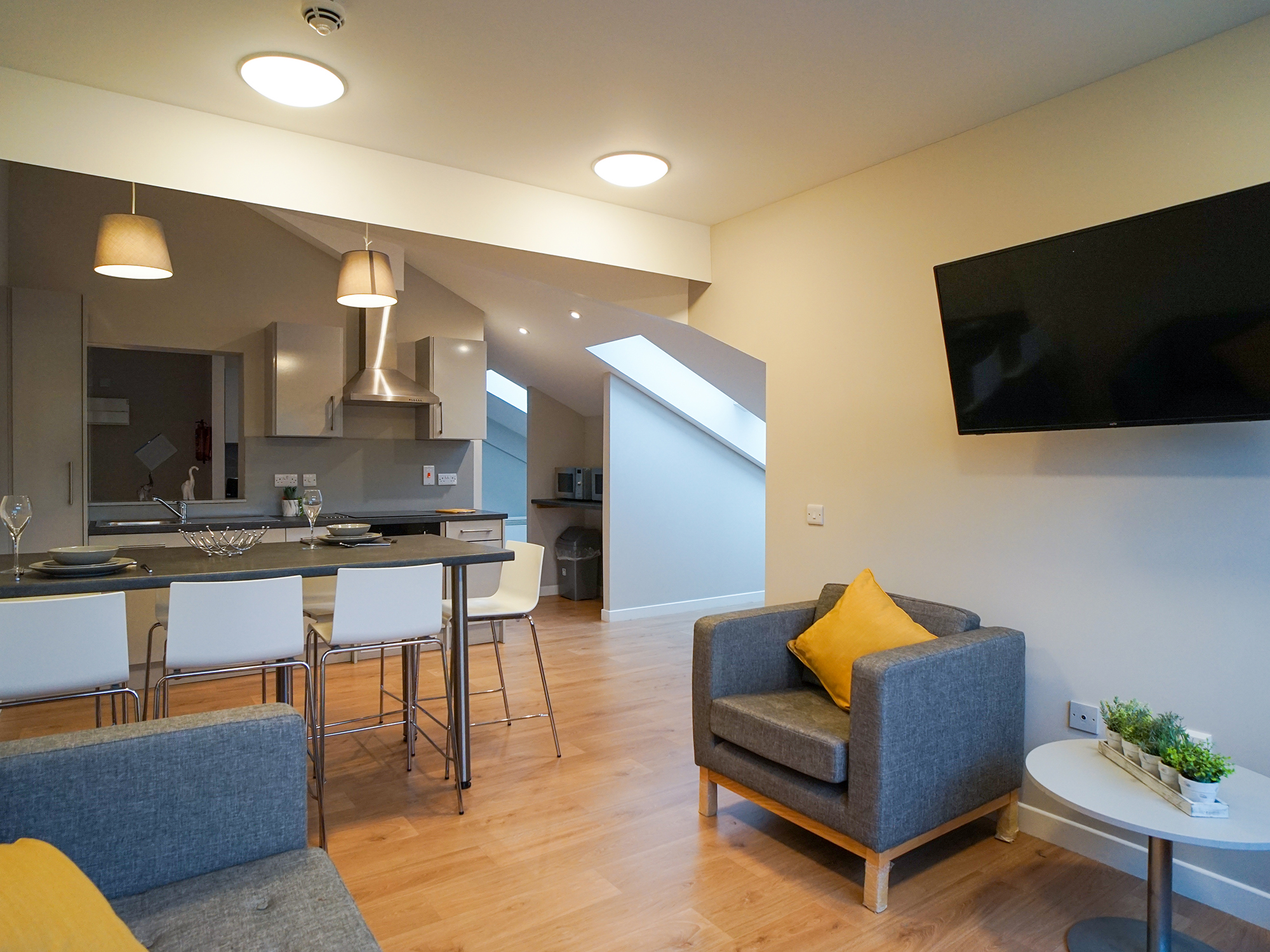 private lounge centro house student accommodation Stirling