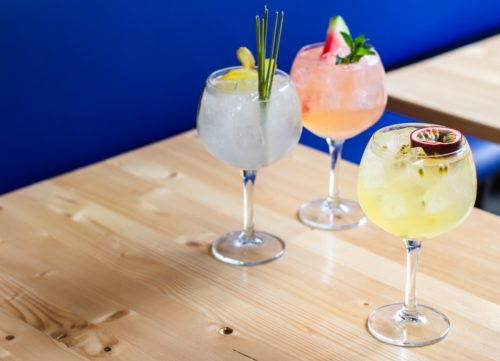three delicious cocktails on the menu for brunch