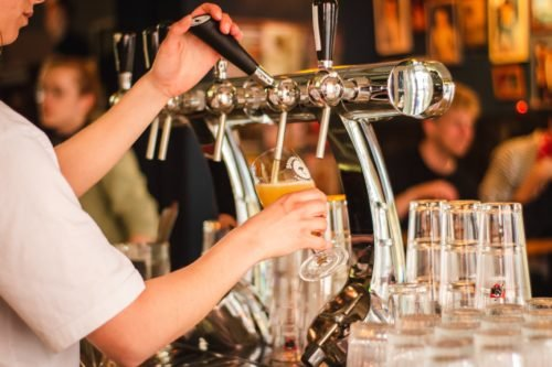drinks poured out of draft in london bridge pubs