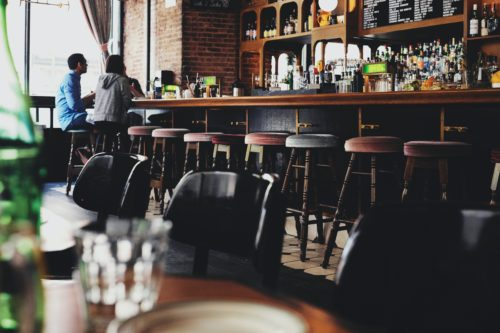 bar stools in london pub
