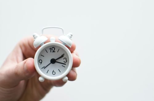 small clock with time on of a level results day release