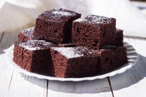Chocolate And Hazelnut Cake Squares