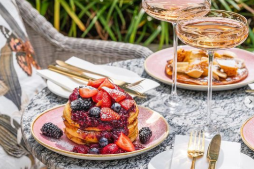 brunch and breakfast with cocktails