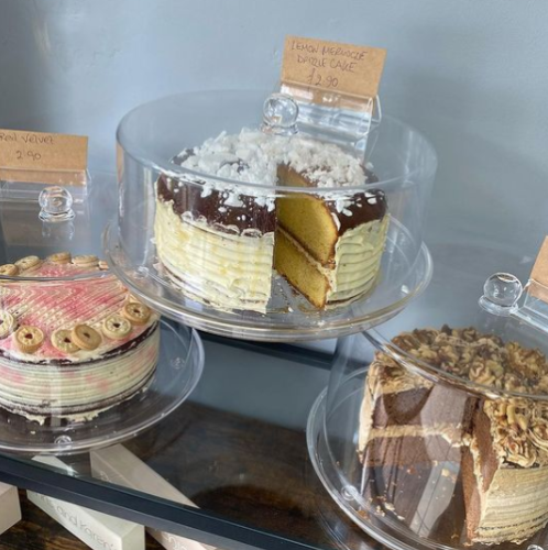 delicious cakes from quaint cafe